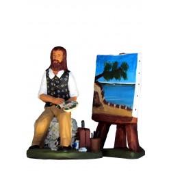 Peintre et son chevalet