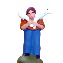 Berger mouton sur le dos