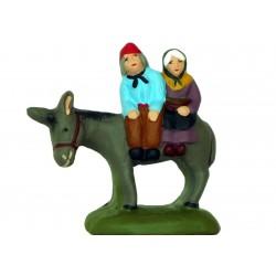Couple sur l'âne