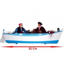 Barque avec 2 pêcheurs
